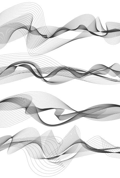 audio equalizer - squiggle line stock illustrations, clip art, cartoons, & icons