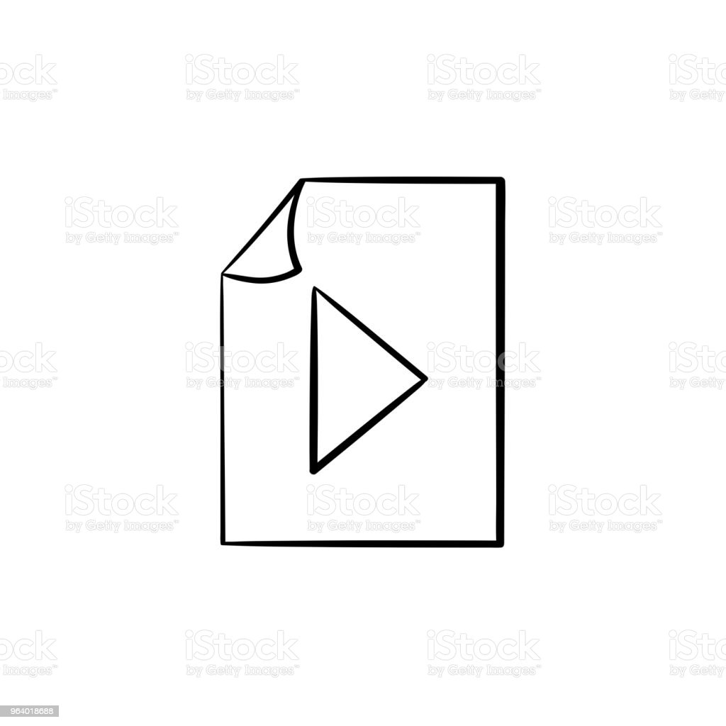 Audio file hand drawn outline doodle icon - Royalty-free Art stock vector