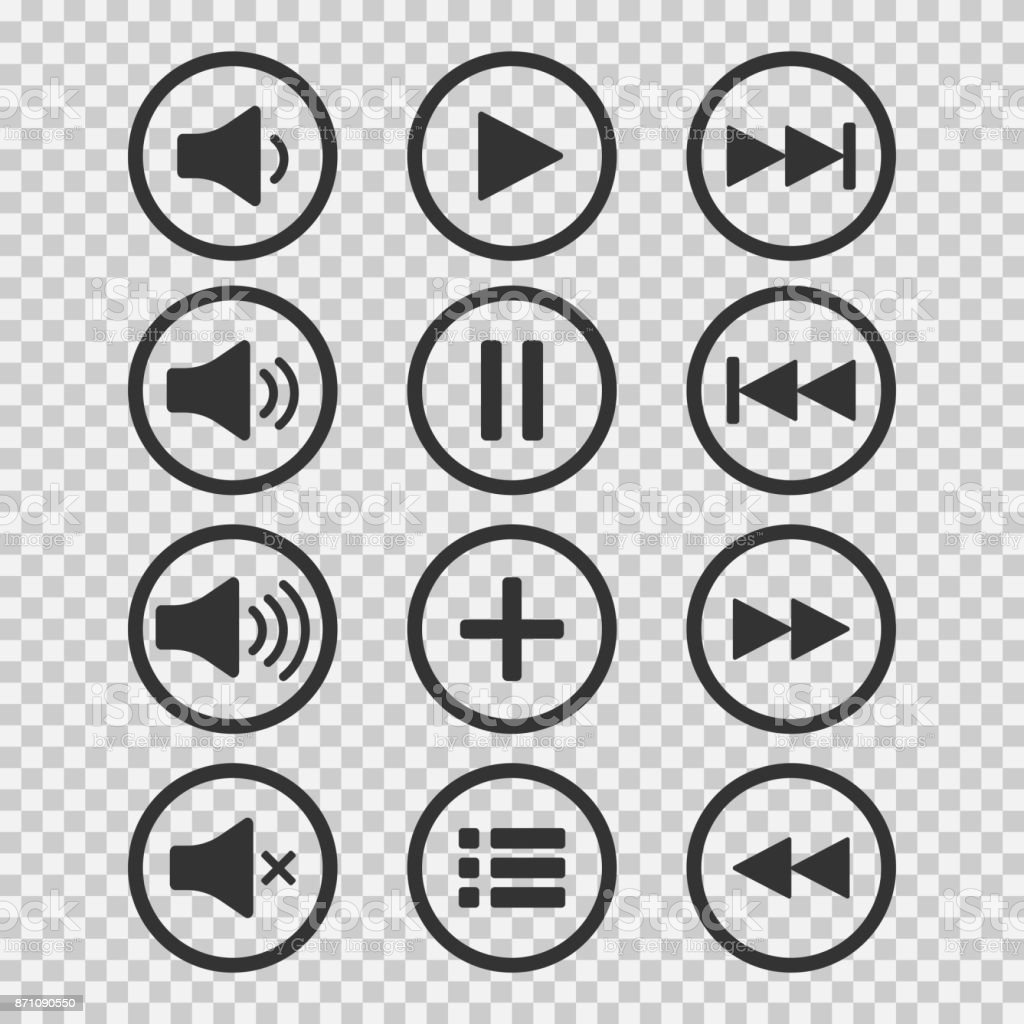 Audio icons sound buttons play button pause sign symbol for web or audio icons sound buttons play button pause sign symbol for web or biocorpaavc Choice Image