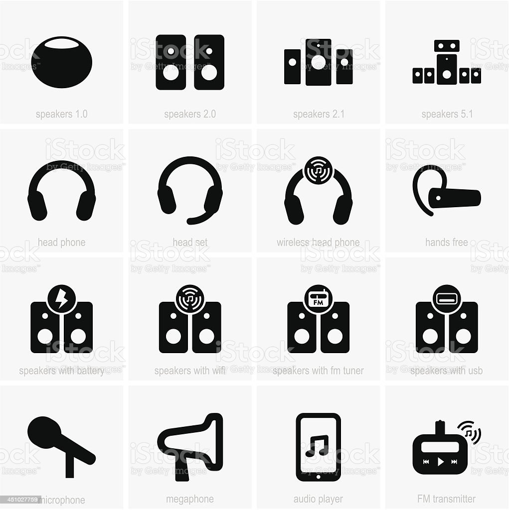 Audio icons royalty-free audio icons stock vector art & more images of audio equipment