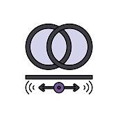 Audio, logo, stereo icon. Element of color music studio equipment icon. Premium quality graphic design icon. Signs and symbols collection icon