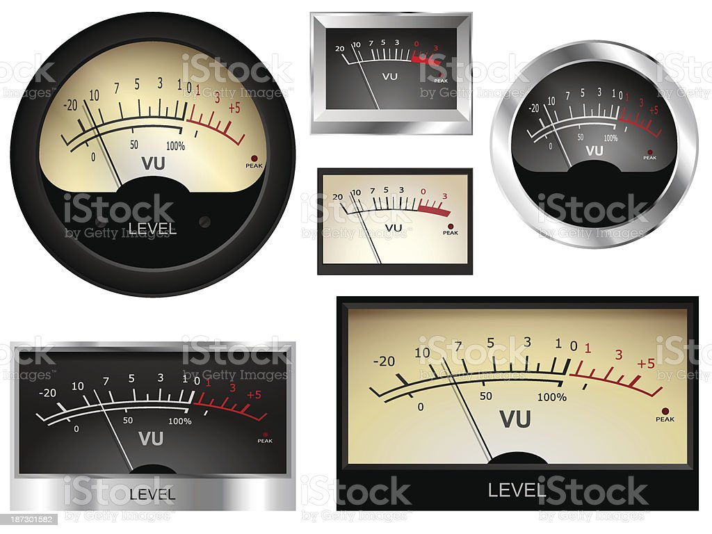 Audio Meters vector art illustration
