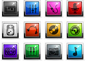Audio & music vector icons. EPS 10 file with transparencies. See also: