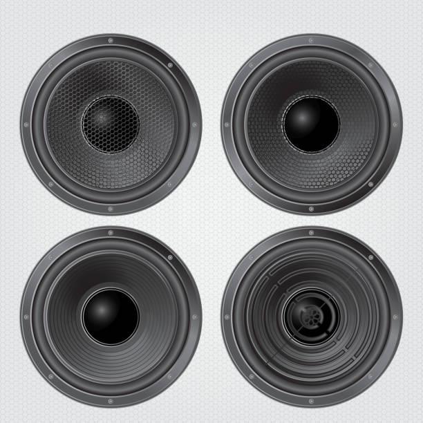 Audio speaker vector art illustration