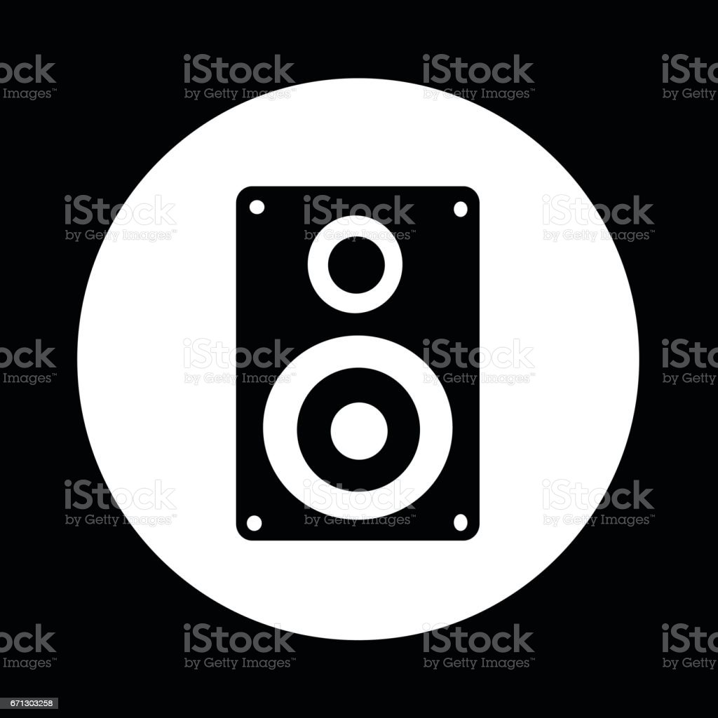 Audio speakers icon illustration design vector art illustration