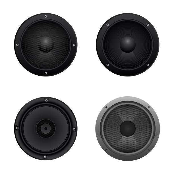 bildbanksillustrationer, clip art samt tecknat material och ikoner med ljud högtalare vektor design illustration isolerad på vit bakgrund - speaker
