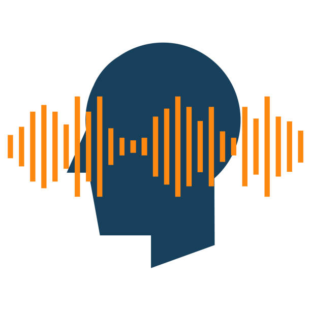 Audio spectrum waveform abstract icon. Speech recognition sound wave form signal for music, speech, recording and voice concept illustration isolated vector. Transparent toned image stock illustrations