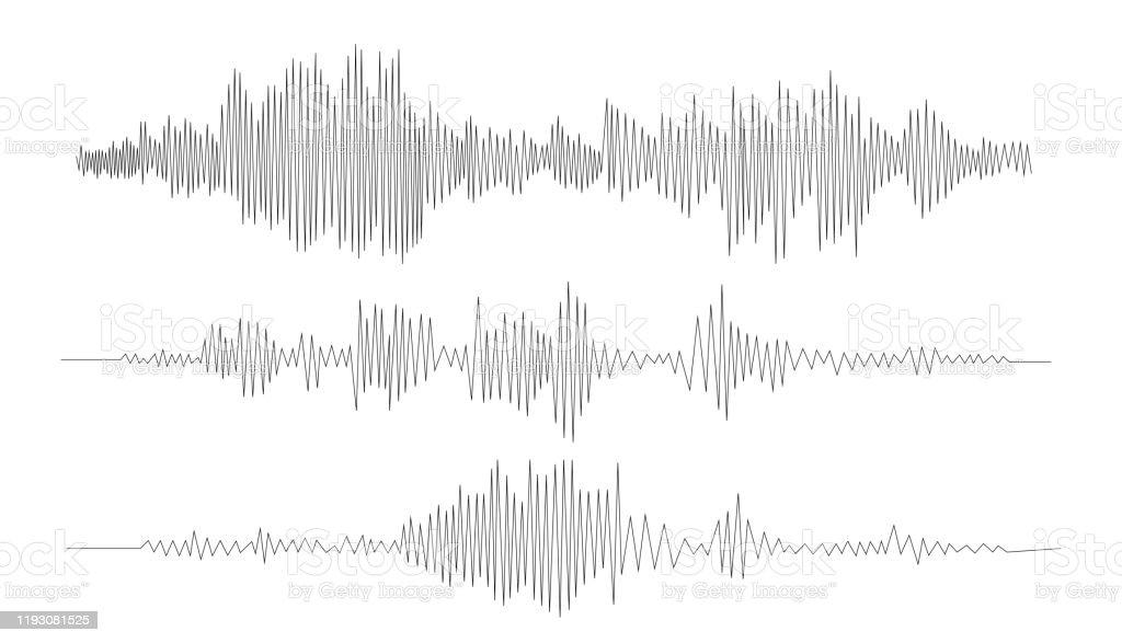 オーディオ技術、音楽音波ベクトルアイコンイラスト。ベクトル音波。 - DJのロイヤリティフリーベクトルアート