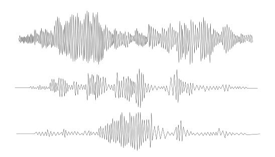 Audio technology, music sound waves vector icon illustration. Vector sound waves.