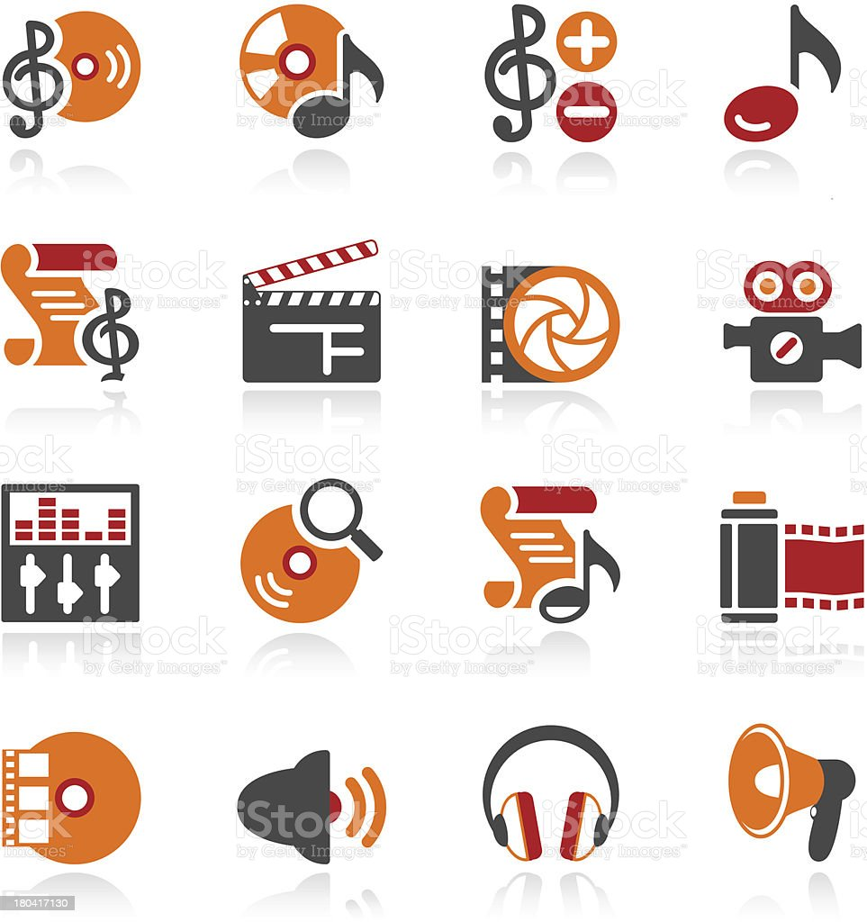 Audio video icons. Color series. royalty-free audio video icons color series stock vector art & more images of audio equipment