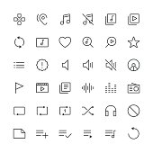Audio Visual icons set 2 | Thin Line serie