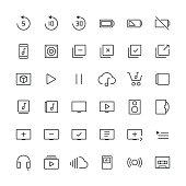 Audio Visual icons set 3 | Thin Line series