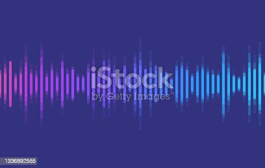 istock Audio Wave Talking Podcasting Background 1336892555