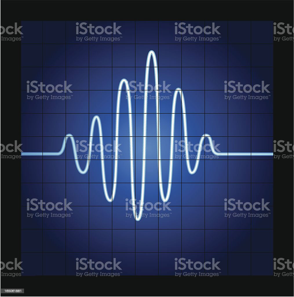 Audio wave royalty-free stock vector art