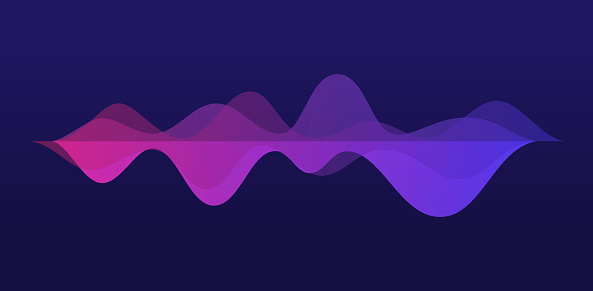 Audio Waves Abstract Background