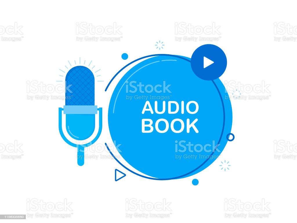 Icone Plate De Livre Audio Avec Le Microphone
