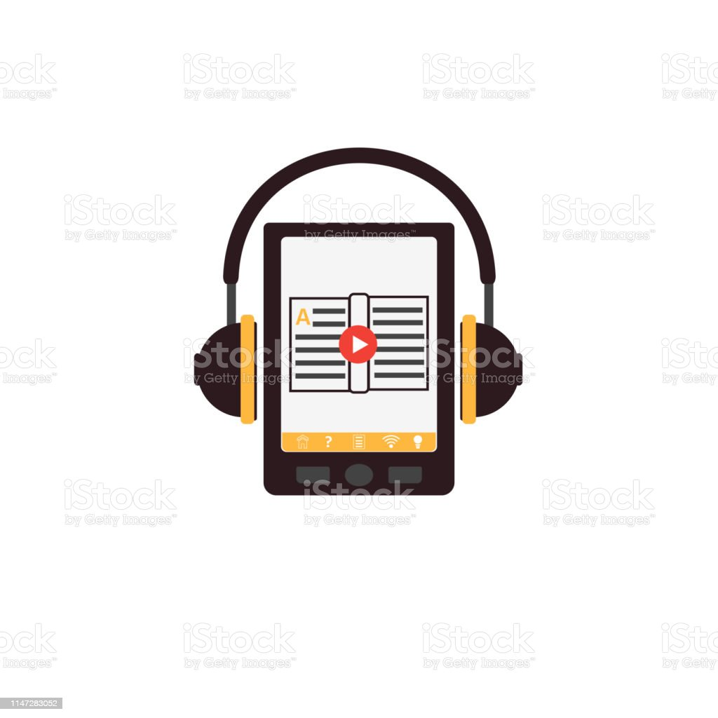 Audiobook Icon Tablet Or Smartphone With The App On The