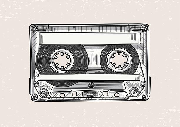 ilustrações, clipart, desenhos animados e ícones de audiocassette - fita cassete
