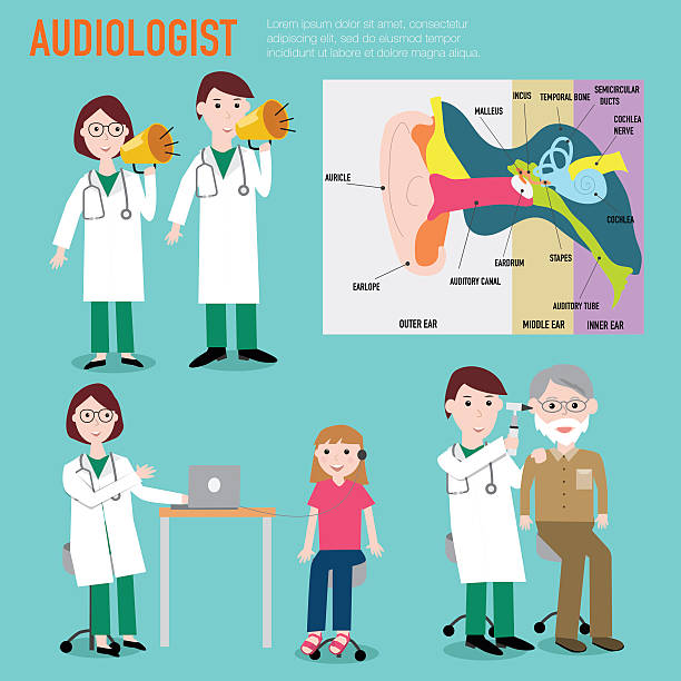 audiologist , audiology , anatomy of ear vector infographic illu - old man crying stock illustrations, clip art, cartoons, & icons