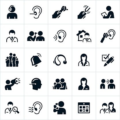Audiology and Hearing icons