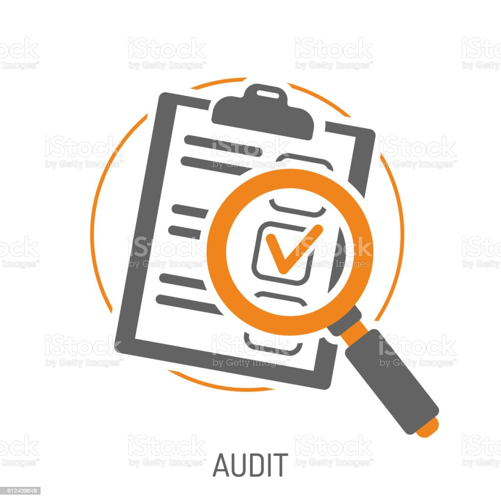 Audit and Test Flat Icon Set vector art illustration