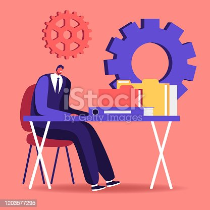 istock Audit Concept. Administrator Business Man Financial Inspector and Secretary Making Report Calculating Balance. Internal Revenue Service Checking Sum Check Documents Cartoon Flat Vector Illustration 1203577295