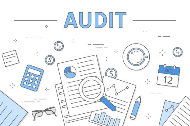 Illustration de la notion de l'audit. - Illustration vectorielle