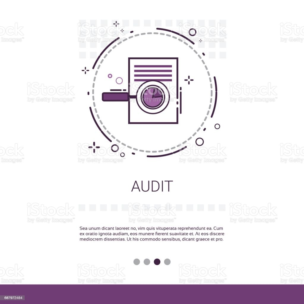 Audit Data Analysis Financial Graph Report Web Banner With Copy Space vector art illustration