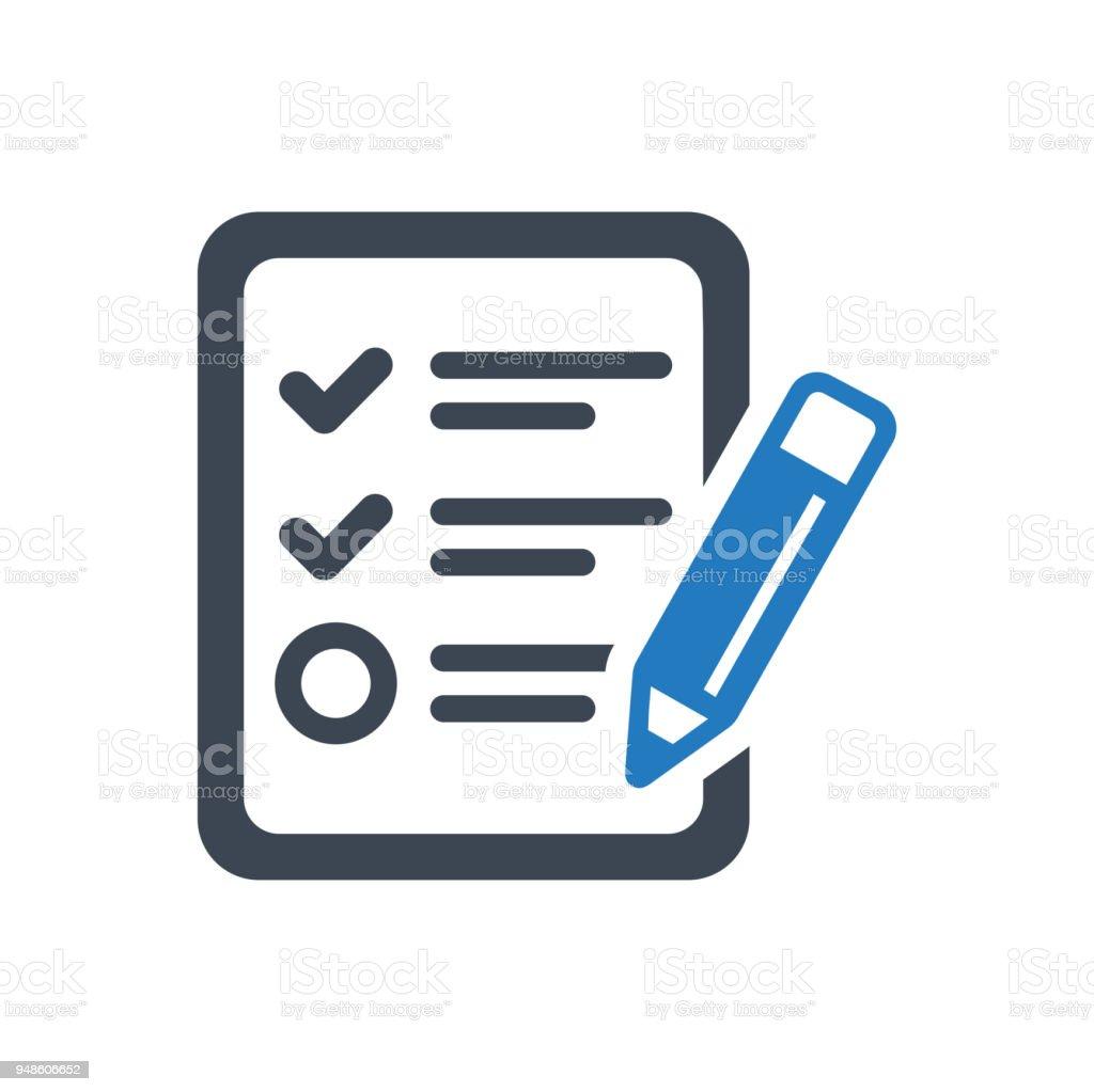 Audit Report Icon vector art illustration