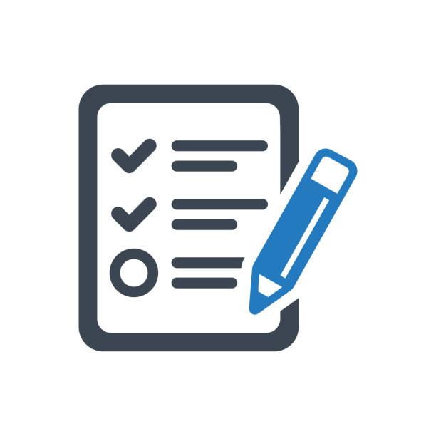 Audit Report Icon This icon use for website presentation and android app survey icon stock illustrations