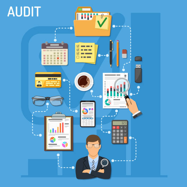 Auditing and Business Accounting infographie - Illustration vectorielle