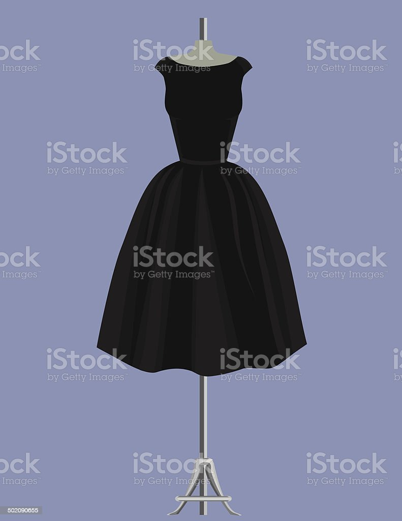 Audrey Hepburn Black Dress vector art illustration