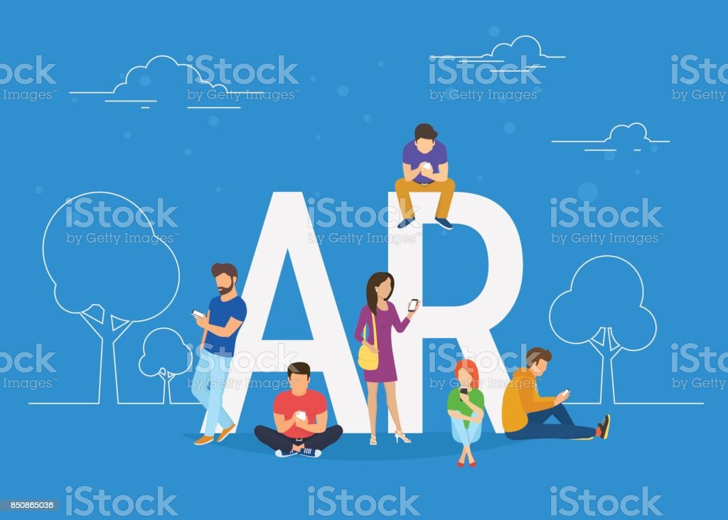 Augmented reality concept illustration vector art illustration