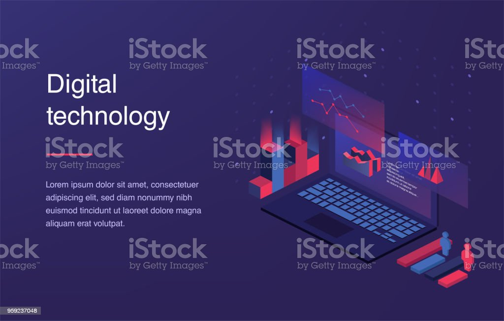 Augmented reality concept. Smart city technology vector art illustration