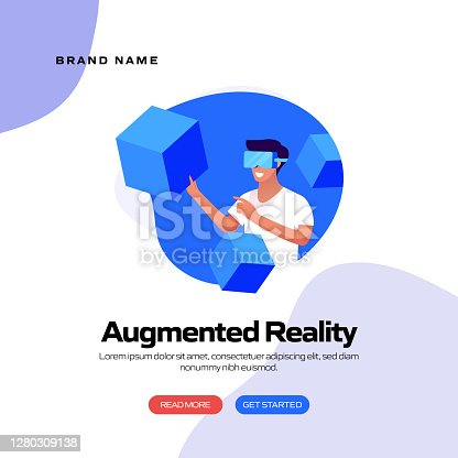 istock Augmented Reality Concept Vector Illustration for Website Banner, Advertisement and Marketing Material, Online Advertising, Business Presentation etc. 1280309138