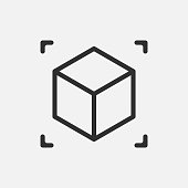Augmented reality. cube icon isolated on white background. Vector illustration. Eps 10.