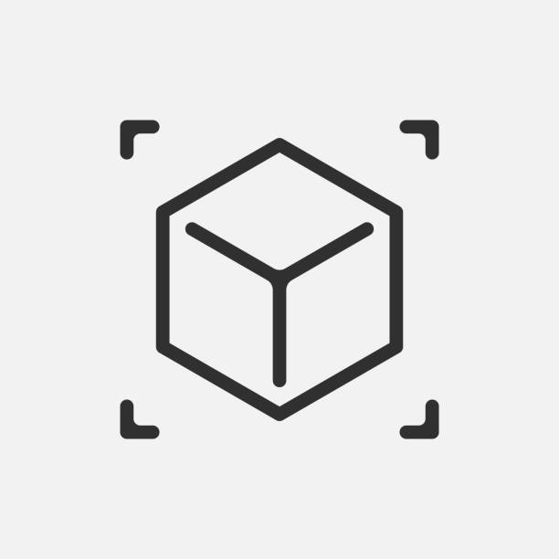 Augmented reality. cube icon isolated on white background. Vector illustration. Augmented reality. cube icon isolated on white background. Vector illustration. Eps 10. cube shape stock illustrations