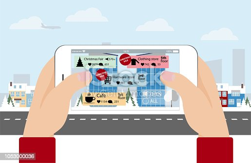 890476604 istock photo Augmented reality in marketing 1053000036
