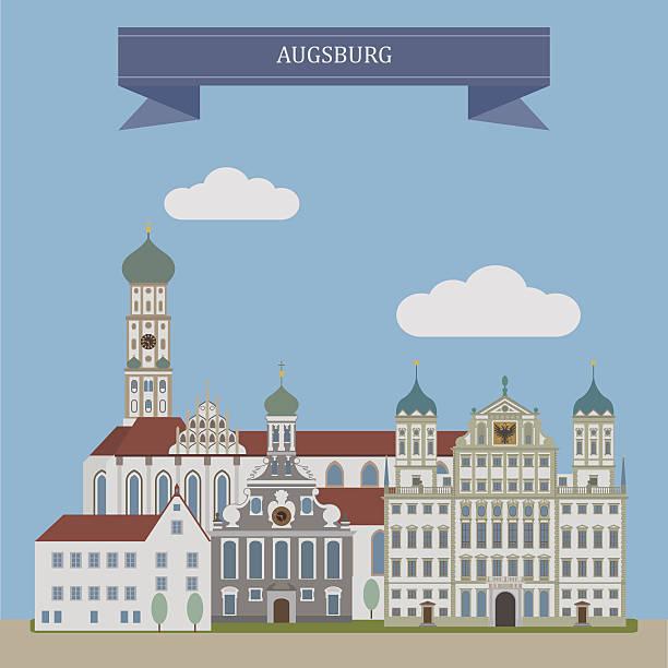 Augsburg, city in Germany – Vektorgrafik