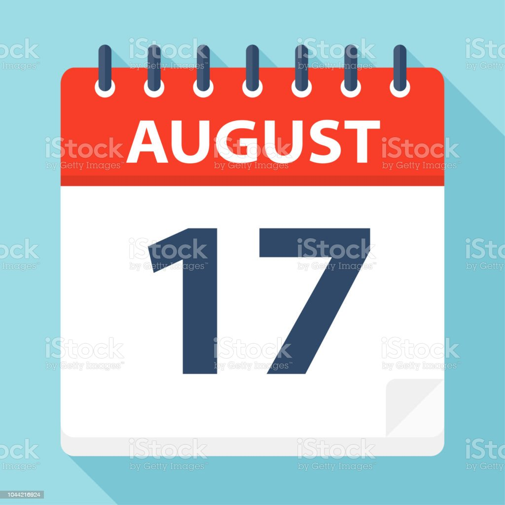August 17 - Calendar Icon vector art illustration