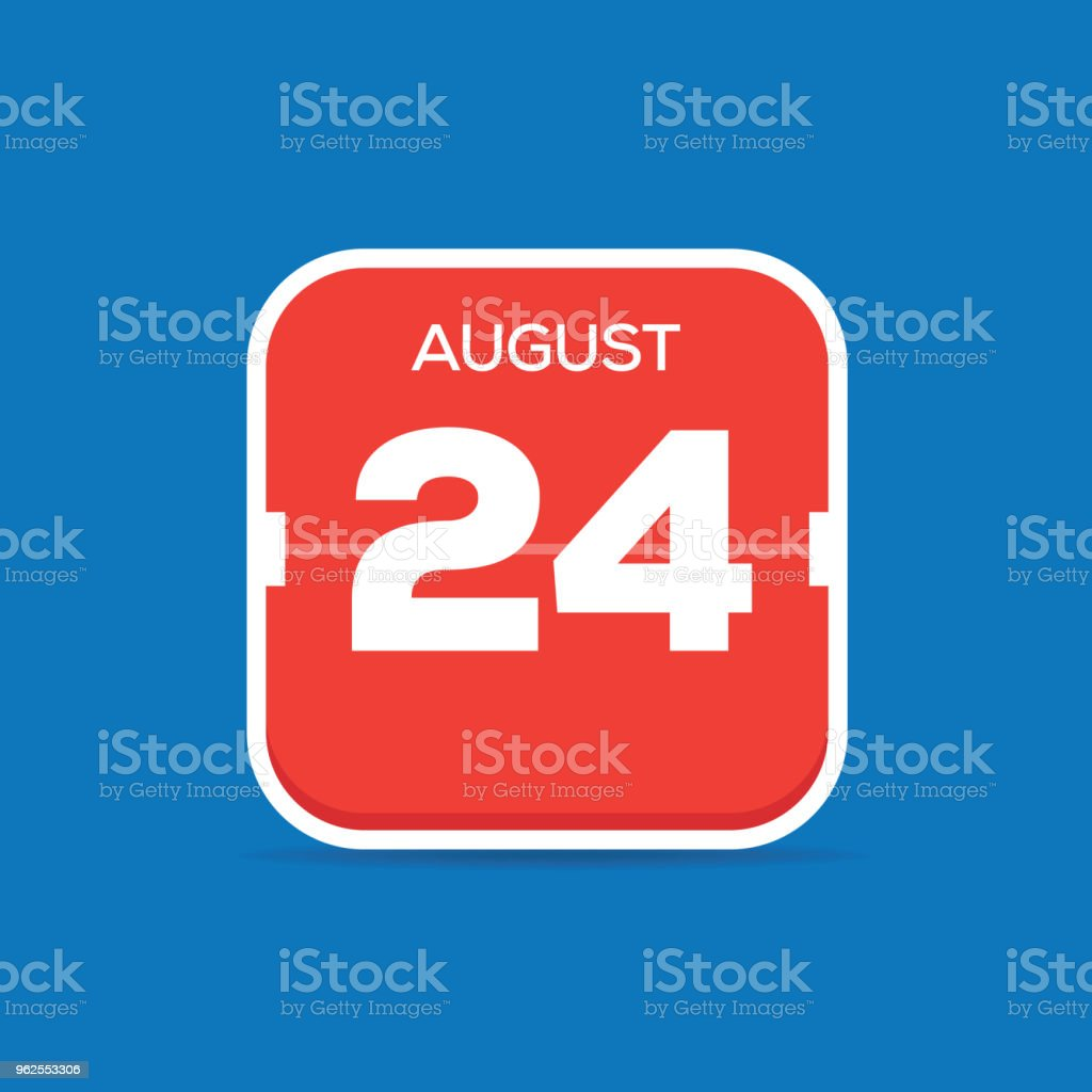 August 24 Calendar Flat Icon - Royalty-free April stock vector
