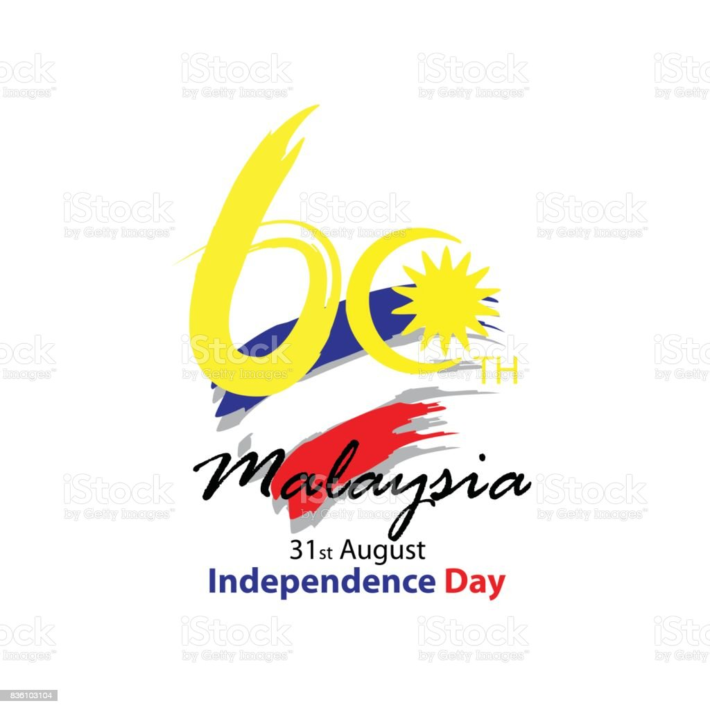 31 August Celebration Card. Malaysia Independence Day vector art illustration