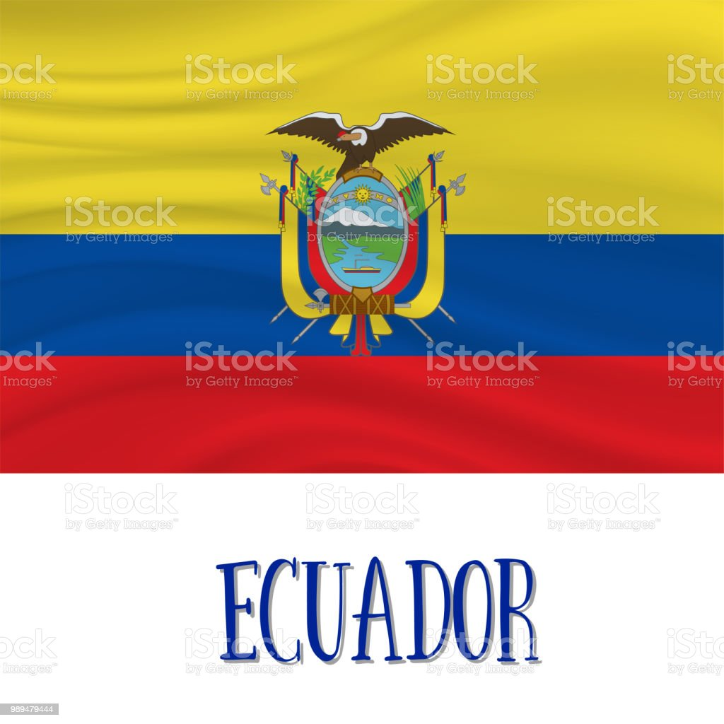 10 August, Ecuador Independence Day background vector art illustration