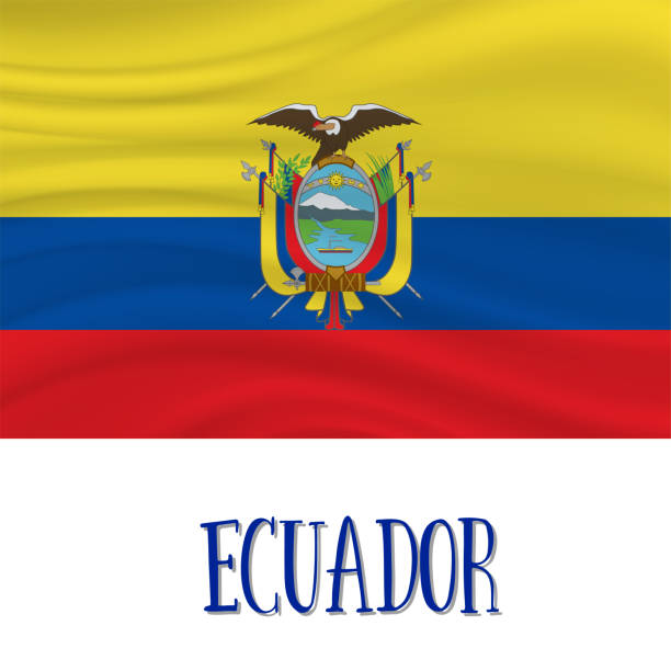 ilustraciones, imágenes clip art, dibujos animados e iconos de stock de 10 de agosto, día de la independencia de ecuador de fondo - bandera de ecuador