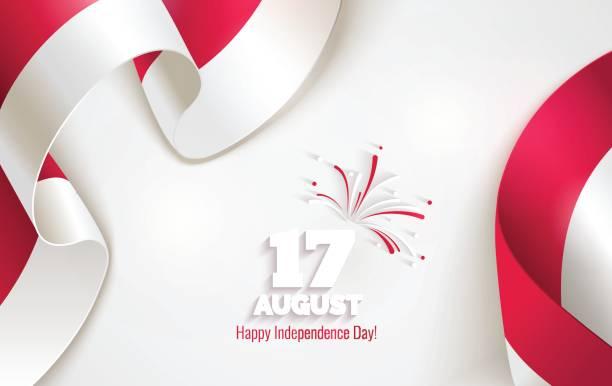 stockillustraties, clipart, cartoons en iconen met 17 augustus. dag van de onafhankelijkheid van indonesië gelukkig wenskaart. - indonesische cultuur