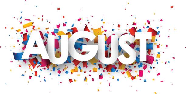 August sign. vector art illustration