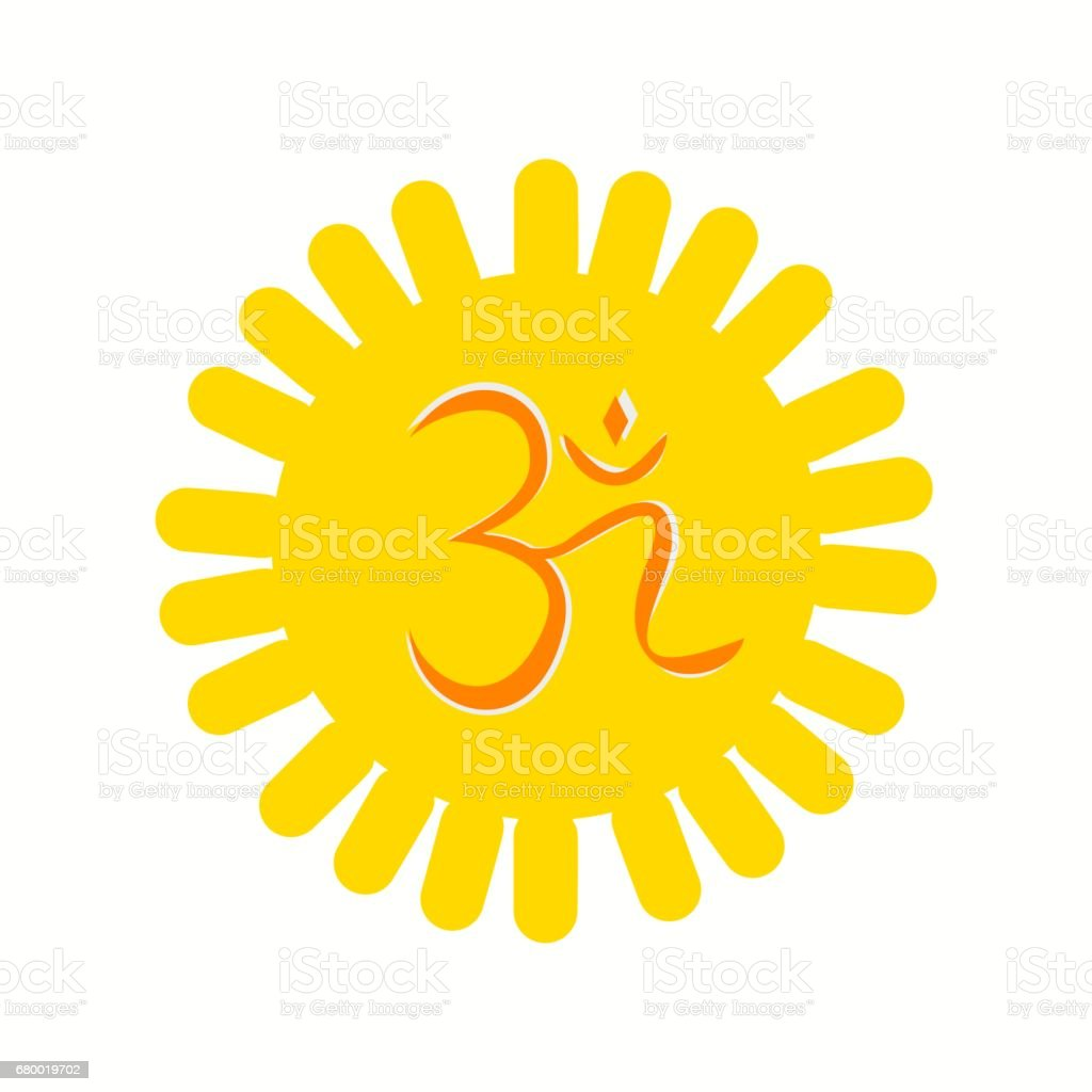 Aum Or Om A Hindu Religious Symbol Stock Vector Art More Images Of