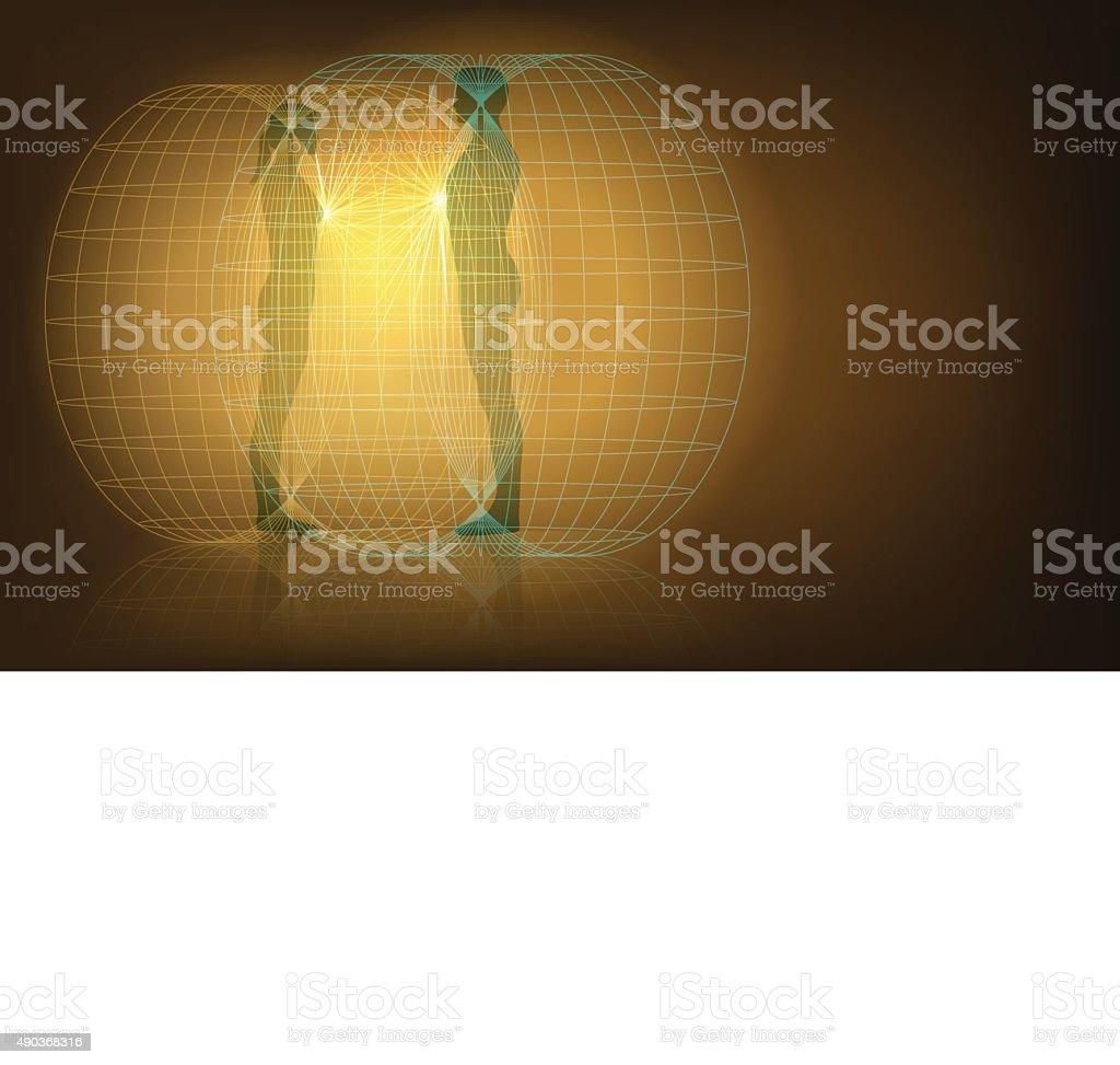 auras interaction vector art illustration