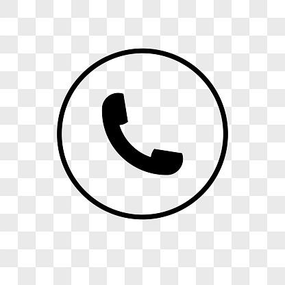 Auricular phone vector icon on transparent background, Auricular phone icon