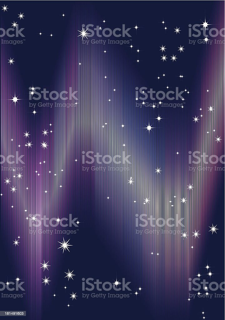 aurora and stars royalty-free stock vector art